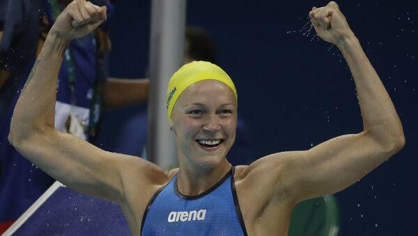Шведская пловчиха Сара Шестрем установила мировой рекорд на дистанции 100 м баттерфляем на Олимпиаде в Рио