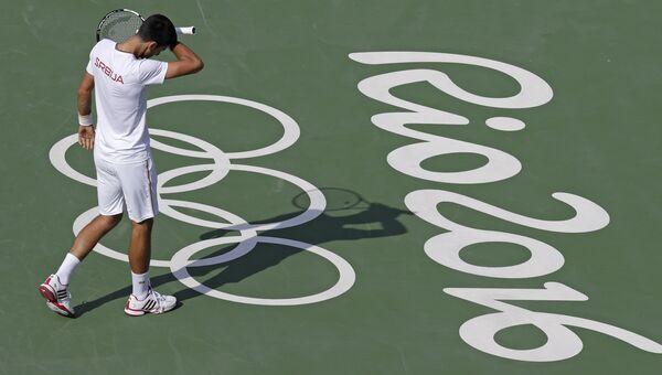 Сербский теннисист Новак Джокович на Олимпиаде в Рио-де-Жанейро. Архивное фото