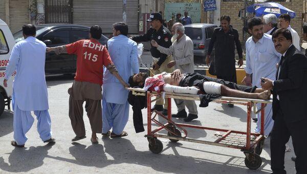 На месте взрыва в больнице пакистанского города Кветта