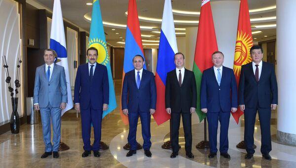 Церемония фотографирования глав делегаций, участвующих в заседании ЕАЭС в Сочи. Архивное фото