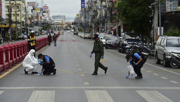 Следователи на месте взрыва в Хуахине, Таиланд. Архивное фото