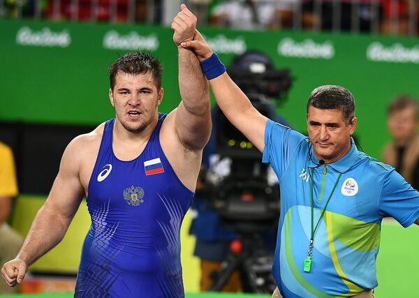 Российский борец Сергей Семенов на XXXI летних Олимпийских играх