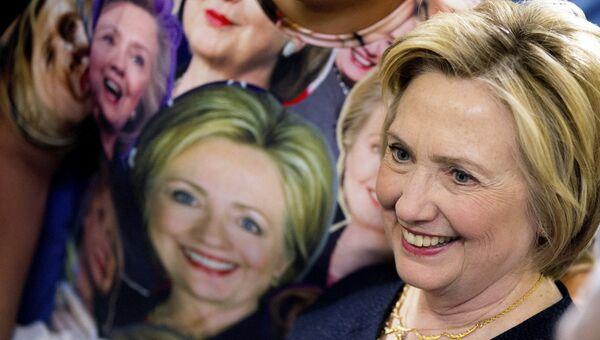 Кандидат в президенты США от Демократической партии Хиллари Клинтон. Архивное фото
