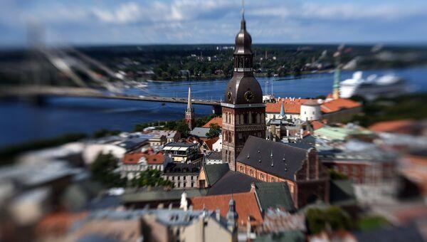 Колокольня Домского кафедрального собора в Риге, Латвия. Архивное фото