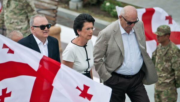 Экс-спикер парламента Грузии, лидер оппозиционной партии Демократическое движение - Единая Грузия Нино Бурджанадзе
