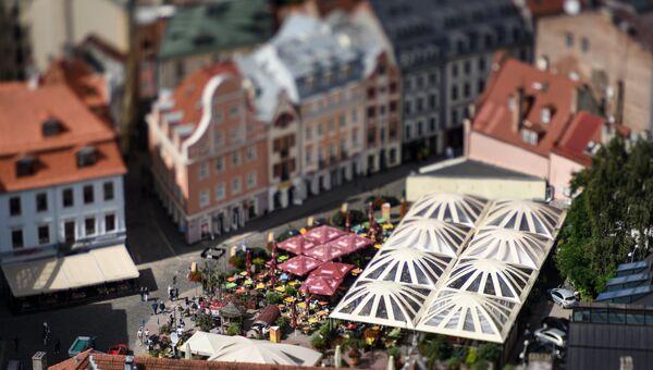 Площадь Ливов в Риге, Латвия