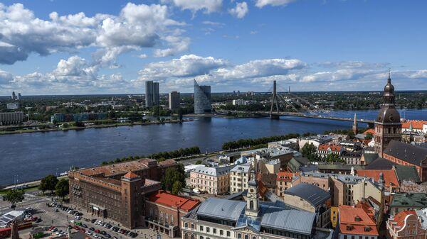 Вид города Рига в Латвии