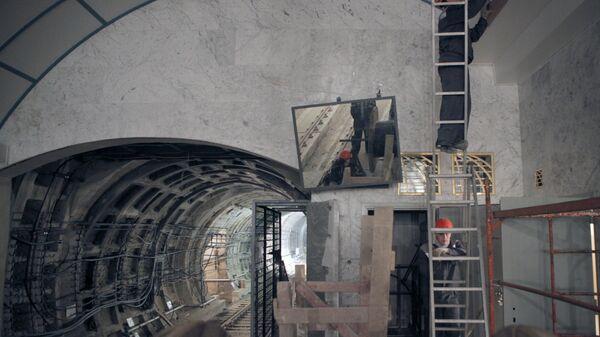 Заключительные работы по строительству станции метро Международная в Санкт-Петербурге