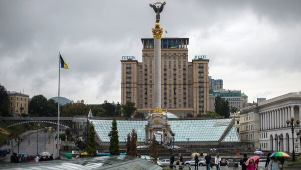 Монумент Независимости Украины на площади Независимости в Киеве