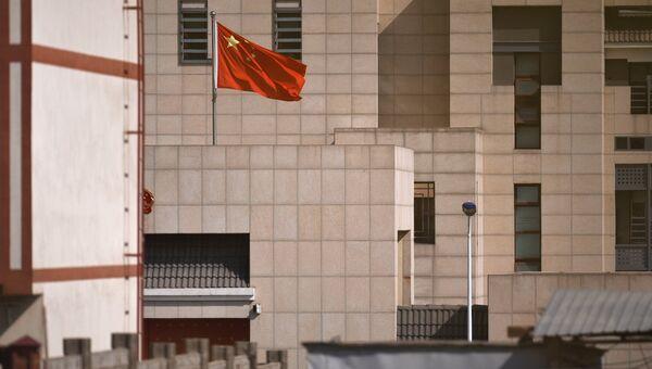 Дипломатическое представительство Китая в Бишкеке, на территории которого произошел взрыв автомашины марки Mitsubishi Delica