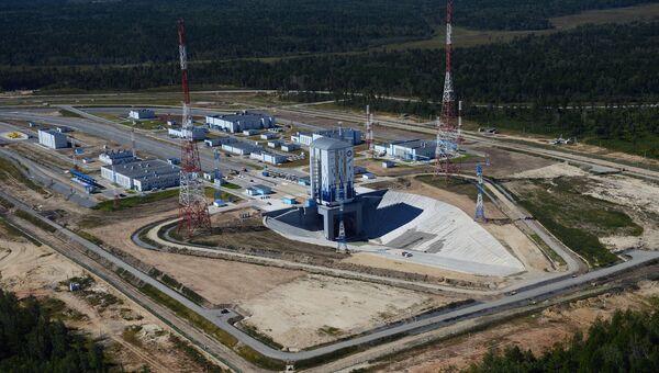 Строительство космодрома Восточный в Благовещенске. Архивное фото