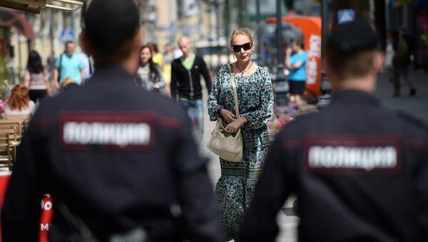 Сотрудники полиции в Москве. Архивное фото