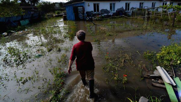 Последствия паводка в Уссурийске. Архивное фото