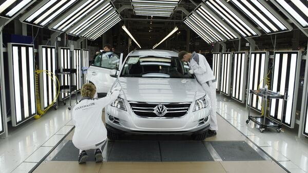 Производство полного цикла на заводе Volkswagen Group Rus в Калуге
