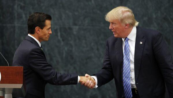 Встреча мексиканского лидера Энрике Пенья Ньето и кандидата в президенты США Дональда Трампа. Архивное фото