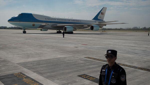 Самолет президента США Барака Обамы в аэропорту Ханчжоу. 3 сентября 2016