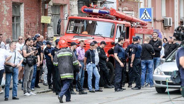 Митинг возле здания телеканала Интер в Киеве. Архивное фото