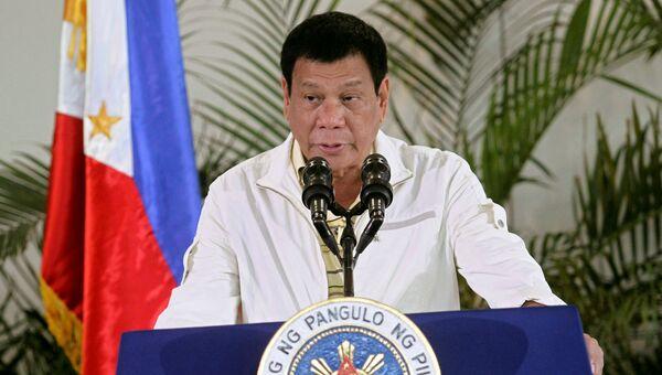 Президент Филиппин Родриго Дутерте во время пресс-конференции перед саммитом АСЕАН. 5 сентября 2016
