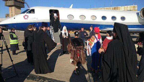 Встреча патриарха Кирилла в аэропорту Певека