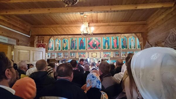 Патриарх Московский и всея Руси Кирилл в Троицком кафедральном соборе Анадыря