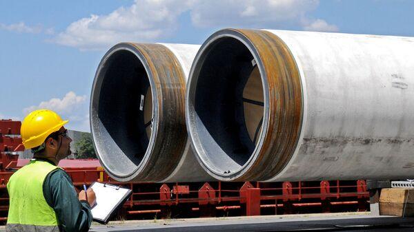 Трубы для строительства Турецкого потока. Архивное фото
