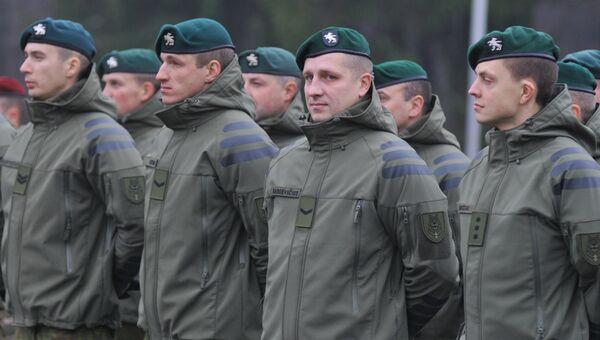 Литовские военнослужащие на торжественном открытии многонациональной тренировки подразделений вооруженных сил Украины. Архивное фото