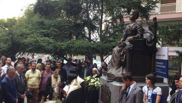 Памятник русской великой княгине, королеве эллинов Ольге открыли в Салониках