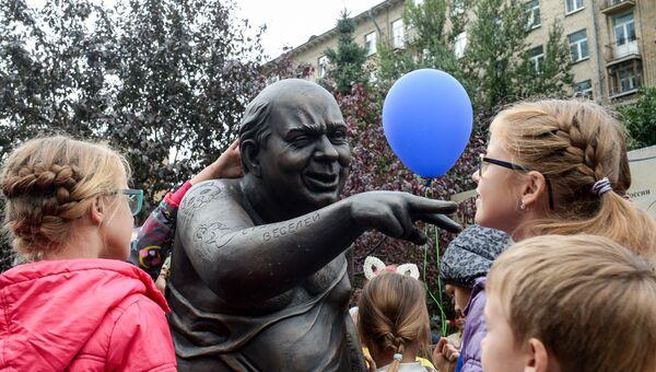 Открытие памятника актеру Евгению Леонову на площади Звезд российского кинематографа в Москве. 10 сентября 2016
