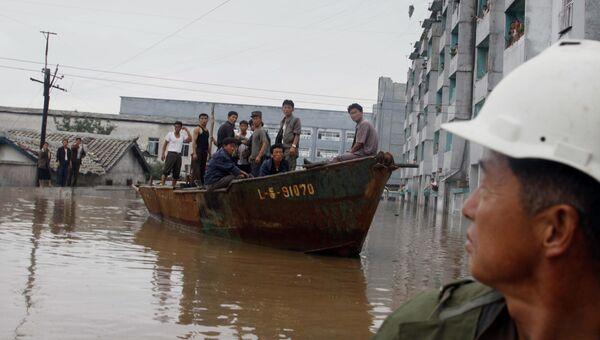 Последствия наводнения в провинции Южный Пхеньян, КНДР. Архивное фото