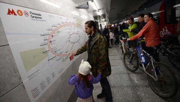 Пассажиры на станции Лужники Московского центрального кольца. Архивное фото