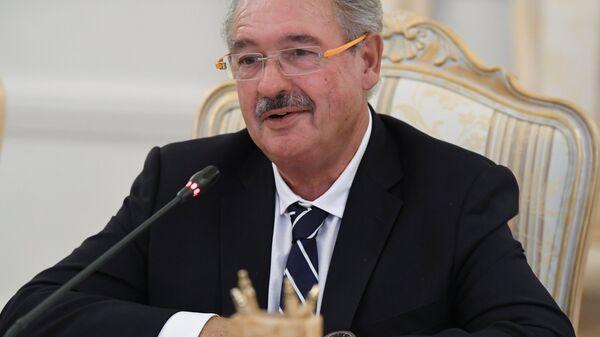 Министр иностранных дел Люксембурга Жан Ассельборн во время встречи в Москве с министром иностранных дел РФ Сергеем Лавровым. 13 сентября 2016