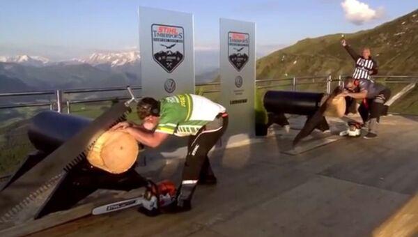Соревнования лесорубов