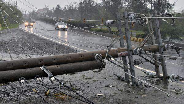 Последствия тайфуна Меранти. Архивное фото