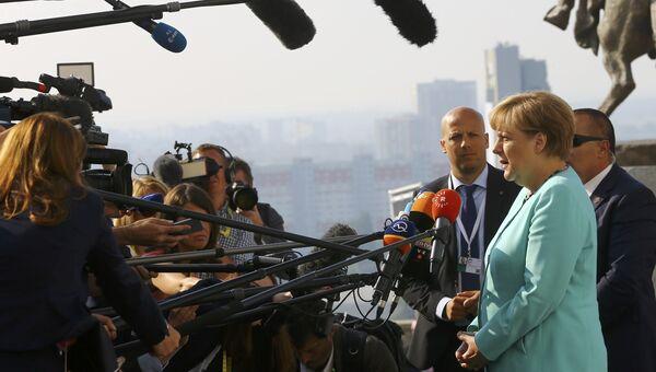 Канцлер Германии Ангела Меркель на саммите ЕС в Братиславе. 16 сентября 2016