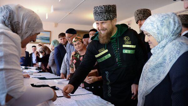 Голосование общественно-политических лидеров в Чечне