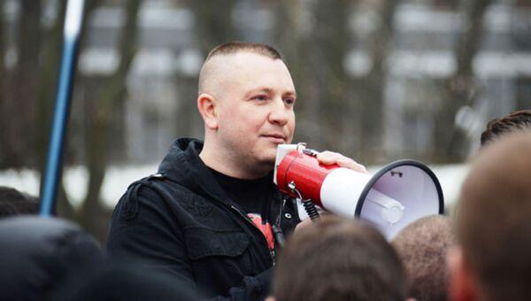Руководитель украинской общественной организации Оплот Евгений Жилин. Архивное фото