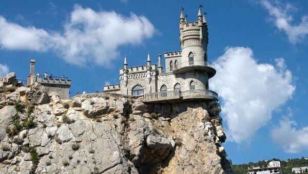 Замок Ласточкино гнездо в Крыму. Архивное фото