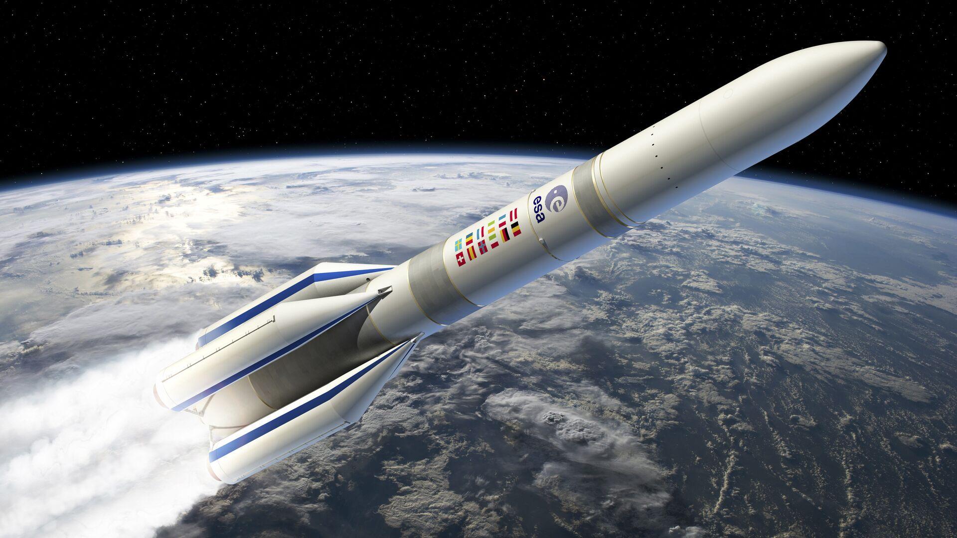 Новая европейская ракета-носитель Ariane-6 на рисунке художника ESA - РИА Новости, 1920, 22.11.2020