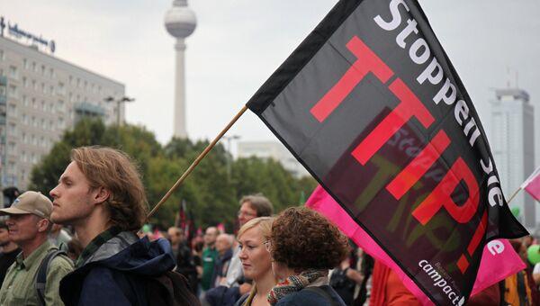 Акция протеста против соглашения о трансатлантической торговле (TTIP). Архивное фото