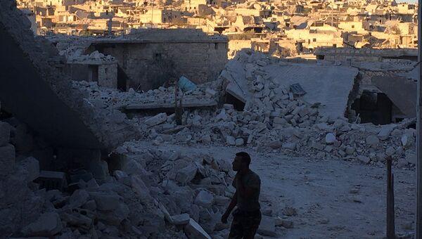 Лагерь Хандарат на северо-востоке Алеппо после освобождения от террористов