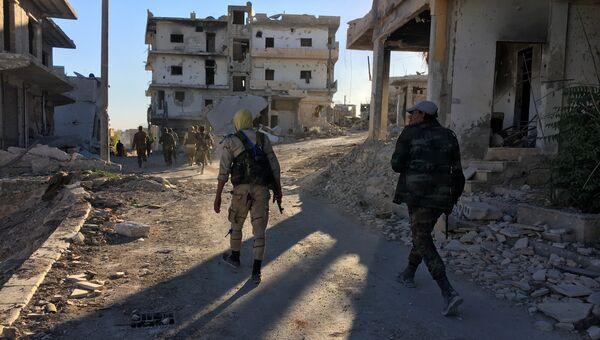 Бойцы бригады ополчения Аль-Кудс на северо-востоке Алеппо. Архивное фото