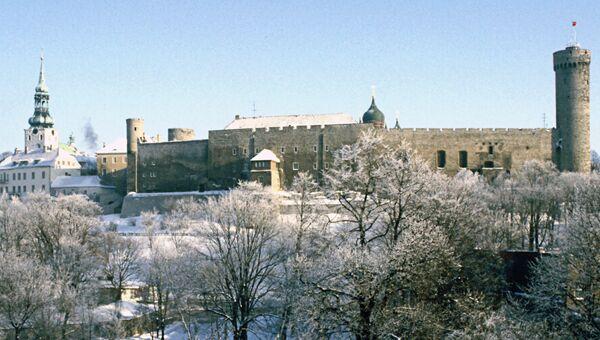 Замок на холме Тоомпеа в Таллине (XIII - XIV вв.). Архивное фото