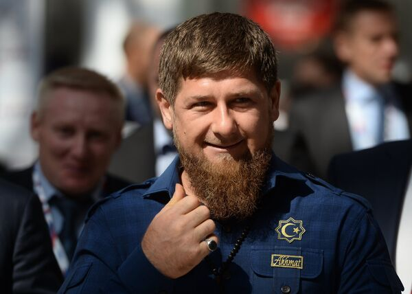Глава Чеченской Республики Рамзан Кадыров на международном инвестиционном форуме Сочи 2016