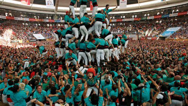 Соревнования кастельеров в Испании