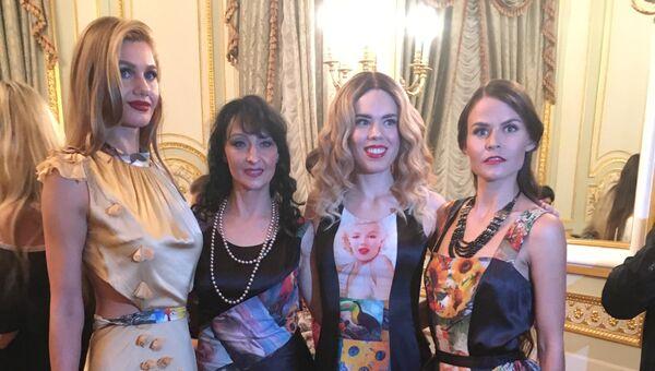 Показ модной коллекции российского дизайнера Ольги Папкович в Нью-Йорке