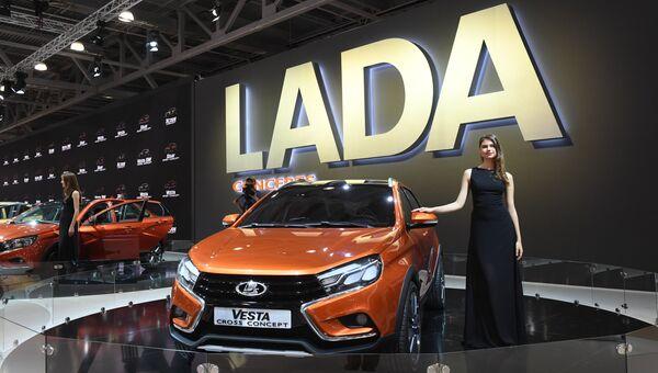 Автомобиль LADA Vesta на Московском международном автомобильном салоне-2016. Архивное фото