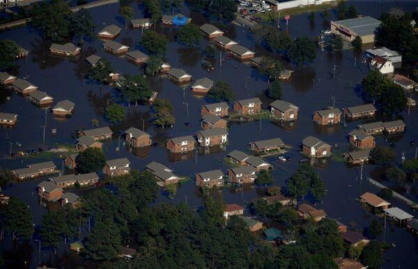 Последствия урагана Мэтью в Северной Каролине. 10 октября 2016