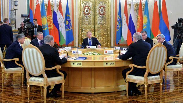 Заседание сессии Совета коллективной безопасности Организации Договора о коллективной безопасности (ОДКБ). Архив