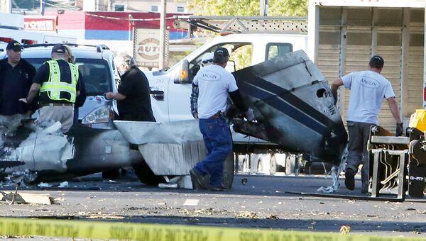 Место крушения самолета Piper PA 34 в американском штате Коннектикут. 12 октября 2016
