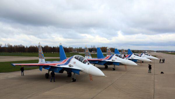 Русские Витязи получили первые четыре истребителя Су-30СМ. Архивное фото